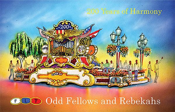 Tournament Of Roses Parade 2017 >> Odd Fellows Rebekahs Rose Float